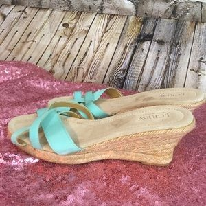 J. Crew made in Italy wedges nwob